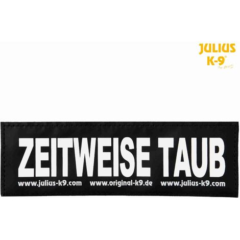 2 Bandes auto-agrippantes ZEITWEISE TAUB Julius-K9 - L