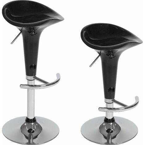 "main image of ""2 bar stools Peter made of plastic - breakfast bar stools, kitchen stools, kitchen bar stools - black"""