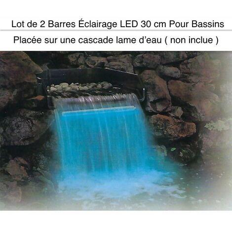 2 Barres Éclairage LED 30 cm Pour Bassins Et Cascades De Jardin. Éclairage Étanche