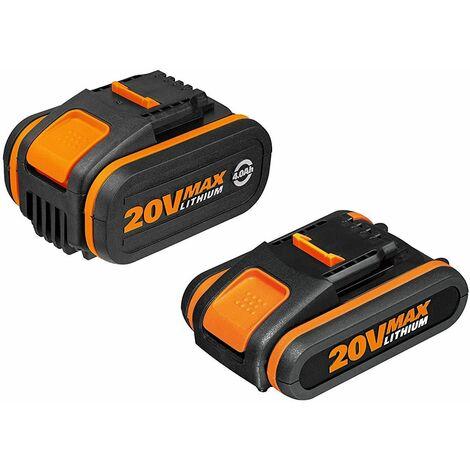 2 Baterías 20V (2Ah+4Ah) Powershrare - Worx