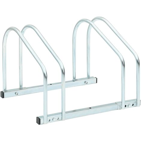 2-Bike Parking Floor Rack 48x33x27 cm Steel