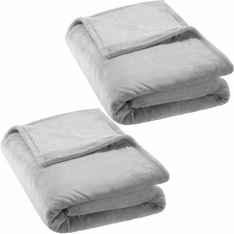 2 blankets polyester 220x240cm - blanket, throw, fleece blanket