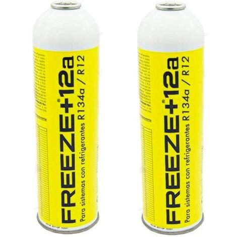 "main image of ""2 Botellas Gas Ecologico Refrigerante Freeze +12a 420Gr Organico Sustituto R12, R134A"""
