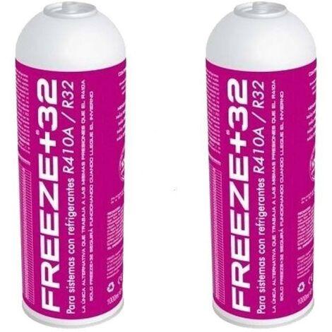 2 Botellas Gas Refrigerante Freeze +32 350Gr Organico Sustituto R32/R410A