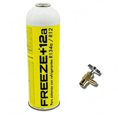 2 Botellas Gas Refrigerante Freeze 445Gr Organico Sustituto R12/R134A