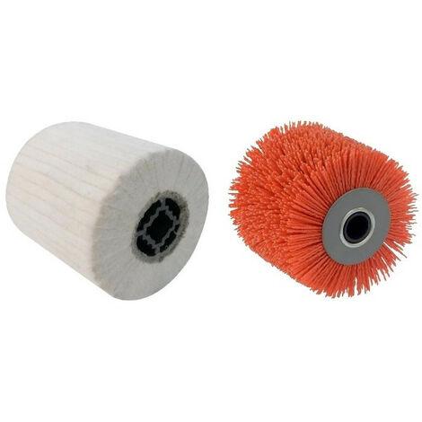 2 Brosses (nylon abrasif pour nettoyer, coton pour lustrer) pour renovateur REX 120C, REX 200, REX-H200 FARTOOLS