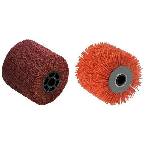 2 Brosses (nylon abrasif pour nettoyer, fibre synthétique pour polir) pour renovateur REX 120C, REX 200, REX-H200 FARTOOLS