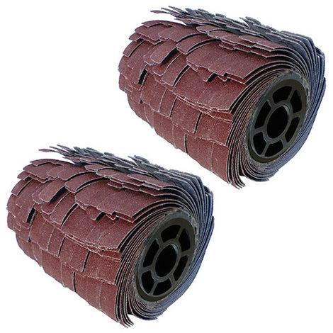 2 brosses pour rénovateur à lanières abrasives grain 40 D. 120 mm L. 100 mm - Ponçage