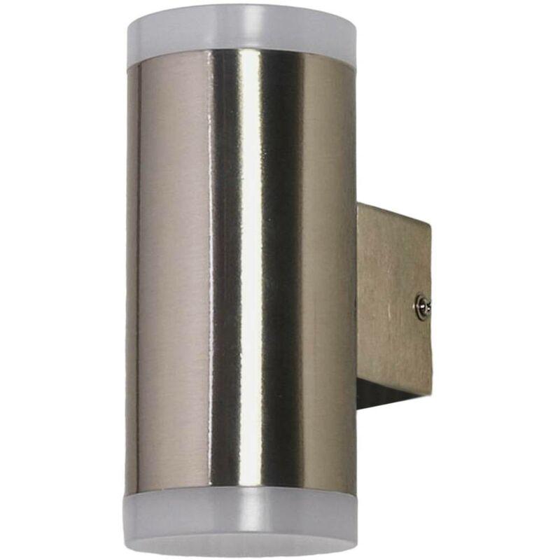 Image of 2-bulb LED outdoor wall light Eliano, steel - LAMPENWELT