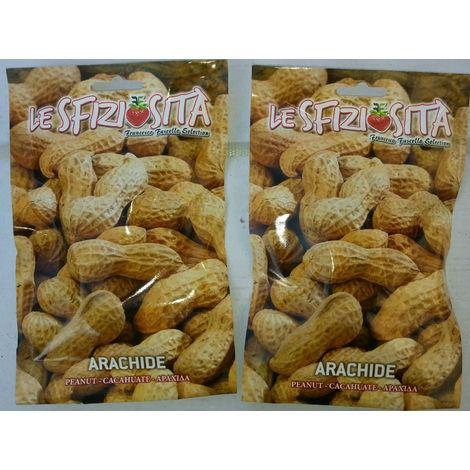 2 bustine semi Arachidi (noccioline da seme) arachide somale orto giardino busta