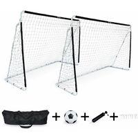 decdb9f80dcd5 2 cages de football Eden taille L en acier 300 x 200 cm avec ballon,