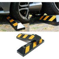 2 cales butées stop roues avec deflecteurs - 55 cm