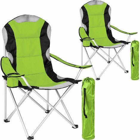 2 Camping chairs - padded - folding chair, fold up chair, folding camping chair