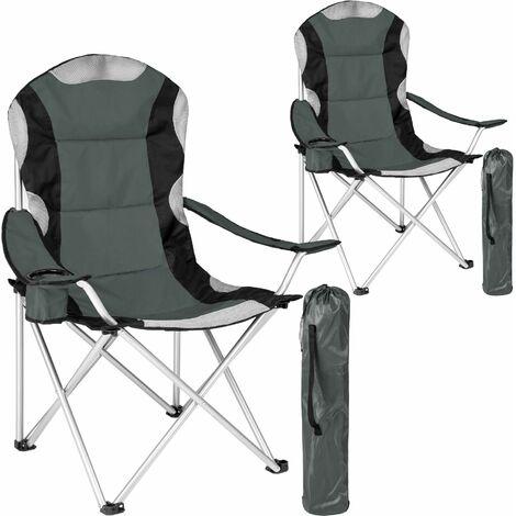 2 Campingstühle mit Polsterung - Klappstuhl, Strandstuhl, Klapphocker