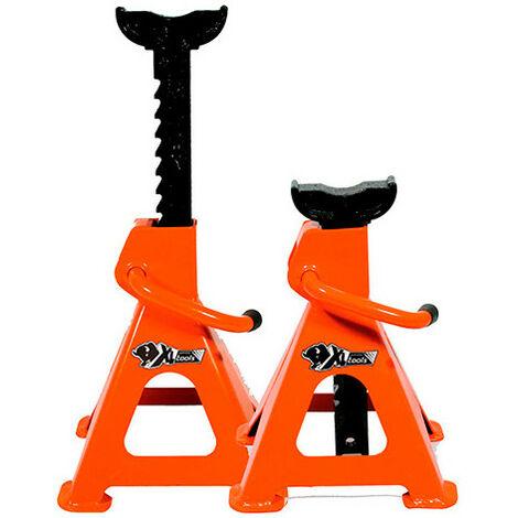 2 chandelles autobloquante à crémaillère 2 T - H. 260 à 420 mm - XL Perform Tools