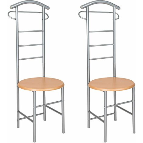 2 clothes racks valet stand - clothes rack, coat stand, valet stand - silver