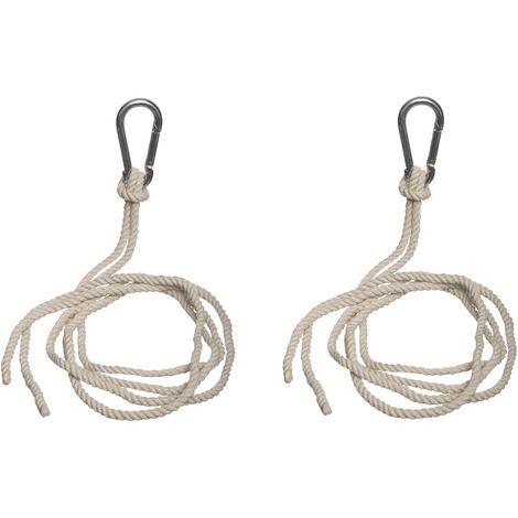 2 Cordes de fixation pour hamac - Blanc