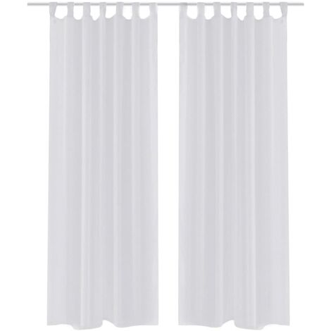 2 Cortinas blancas transparentes 140 x 225 cm