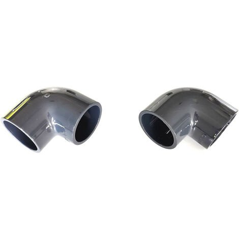 2 Coudes ø 50 mm PVC 90° pression