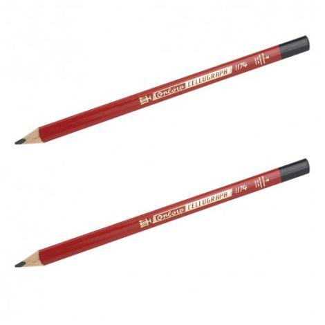 2 crayons cellugraph lyra 23 cm - l'outil parfait