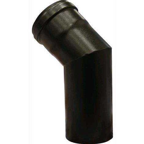 Gomito a 45° per Tubi Stufa Ø 13 cm colore Nero Opaco in lamiera porcellanata