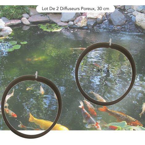 2 Diffuseurs D'Air Poreux PREMIER PRIX 30 cm. à Lester Pour Bassins De Jardin - Noir