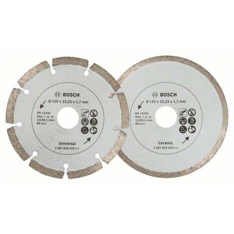 2 disques diamants carrelage & maçonnerie pour meuleuses BOSCH