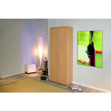 2-door cabinet with laminate shelves
