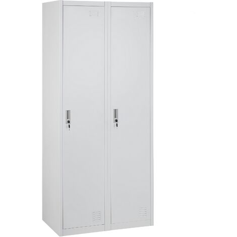 2 Door Metal Storage Cabinet White OHRID