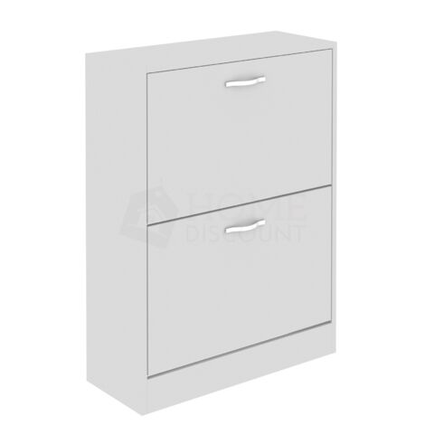 2 Drawer Shoe Cabinet, White