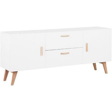 2 Drawer Sideboard White MEET II