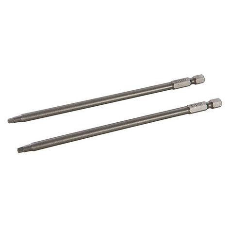 2 embouts de vissage TWSD6 L. 152 mm x SQ2 x Q. 6,35 mm - 708367 - Triton - -