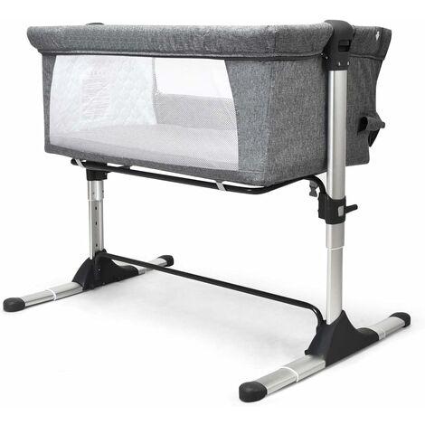 2 en 1 Cuna para Bebé Plegable Cuna de Colecho Altura Ajustable Bebé Cama para Viaje Hogar Dormitorio