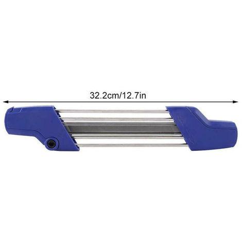 """2 en 1 Easy File Blue Chainsaw Afilador de archivos fácil Herramienta de rectificado de cadena Afilado 0.325 """"4.8mm para Stihl"""