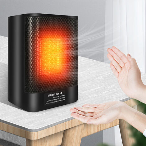 2 en 1 mini radiateur électrique domestique froid chaud PTC table en céramique ventilateur d'air portable