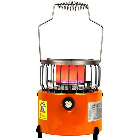 2 en 1 portatil 2000W Calentador Estufa camping Calefaccion Cocina Para Cocinar con mochila hielo Pesca de excursion que acampa