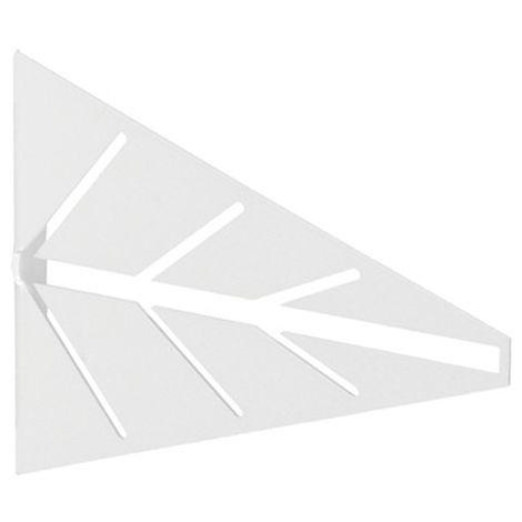 2 Escuadras para estantes ARROW: de estilo decorativo, fabricada en acero y con acabado blanco mate.