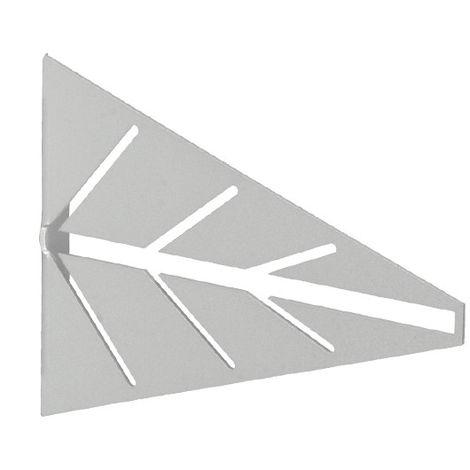 2 Escuadras para estantes ARROW: de estilo decorativo, fabricada en acero y con acabado cromado mate.