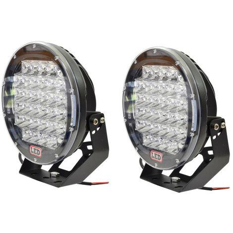 2 feux led longue portée 32 LED - 9 - 225mm 225 m