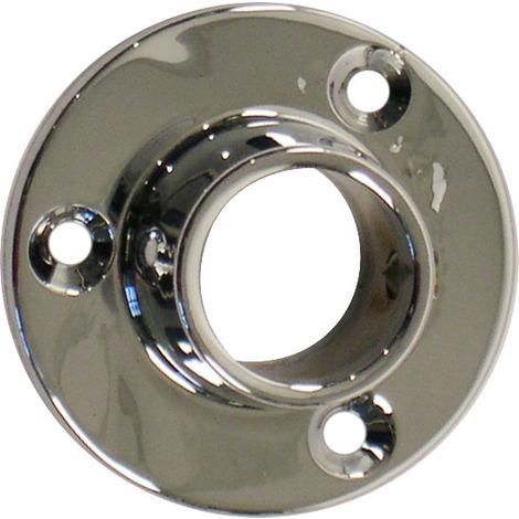 2 fixations latérales pour tube penderie rond acier chromé
