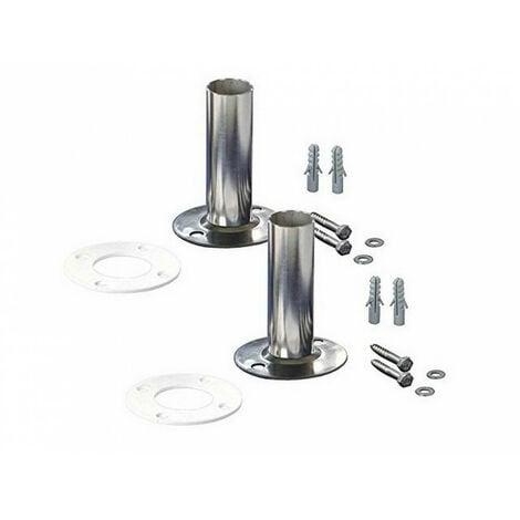 2 Fixations pour échelle INOX de Piscine en diamètre 43 mm
