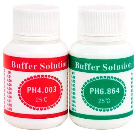 2 flacons de solutiuon : PH4 et PH6 pour Ph-mètres - FPH202 - D-Work