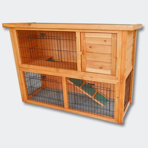2 floors freewheeling Nagerhaus- hare & Hutch Small Animal House