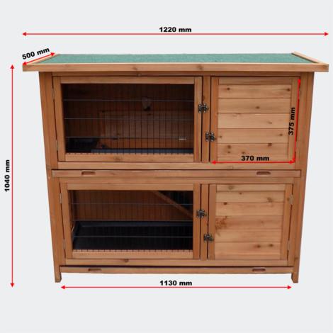2 floors Nagerhaus- hare & rabbit hutch rabbits House Small Animal House 1220 x 500 x 1040 mm