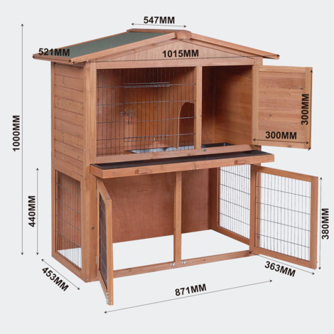 2 floors Nagerhaus- rabbit hutch & small animal house rabbit house