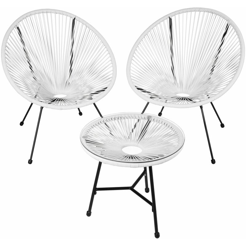 2 Balkonstühle mit Tisch 2 Gartenstühle mit Tisch
