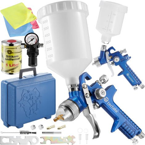 2 HVLP paint spray guns (1 0+ 1 7 mm) + mask + silicone
