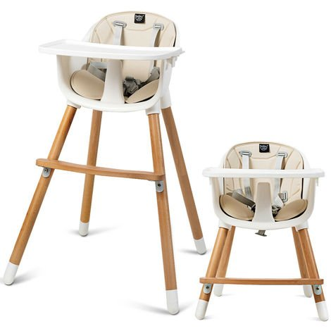 2 in 1 Baby High Chair Infant Child Feeding Seat Highchair Food Tray Safety Belt