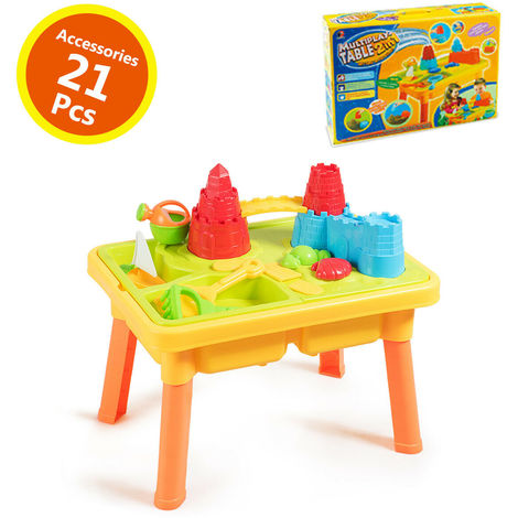 2 IN 1 Beach Toy Set Children Kids Sand and Water Table Set Garden Sandpit Play