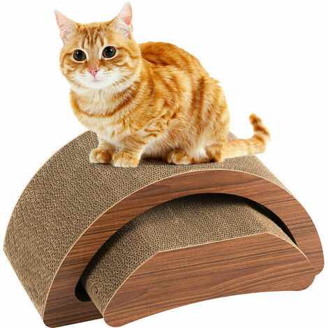 2 IN 1 Cat Kitten Cardboard Scratcher Corrugated Scratching Pad Post Lounge Sofa